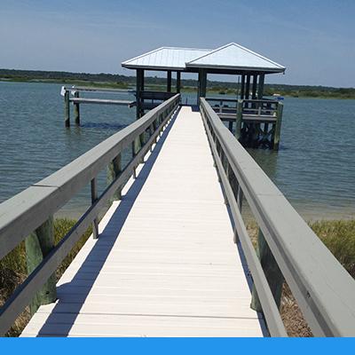 wood boardwalk